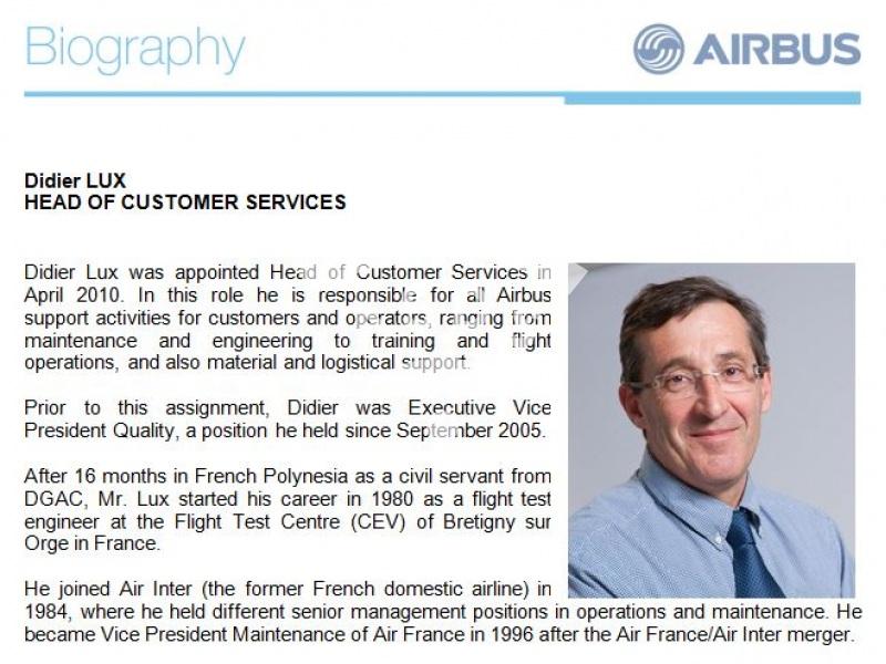 Didier Lux, Airbus