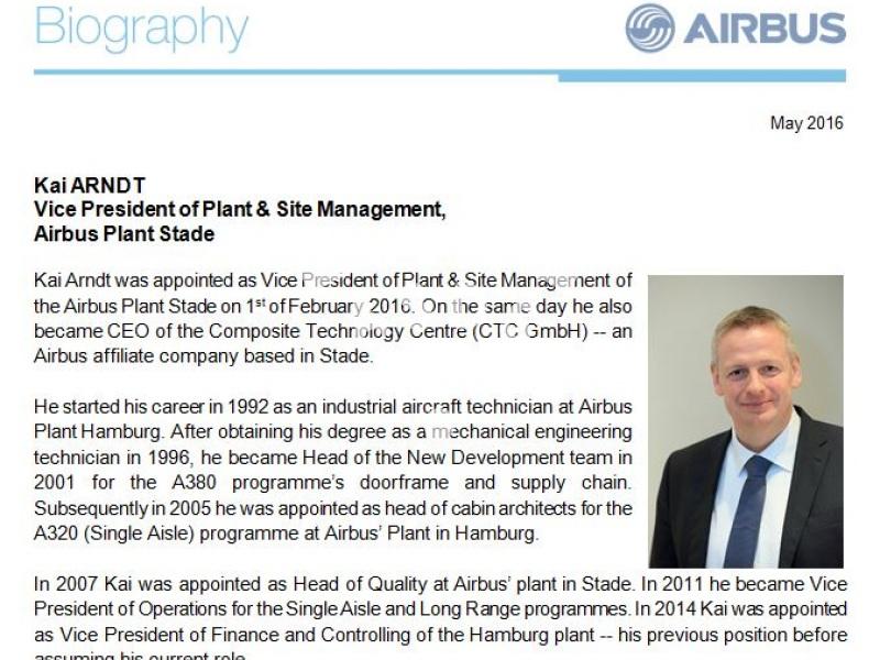 Kai Arndt, Airbus
