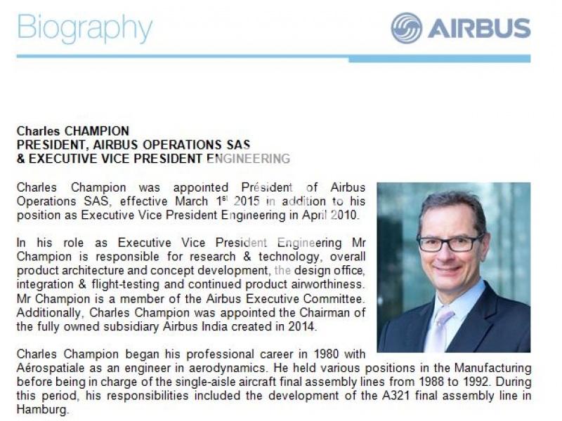 Charles Champion, Airbus