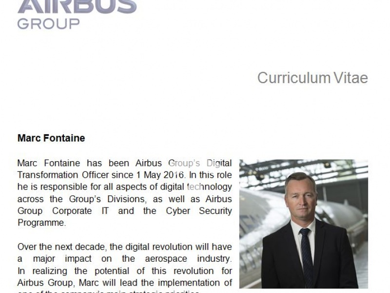 Marc Fontaine, Airbus Group