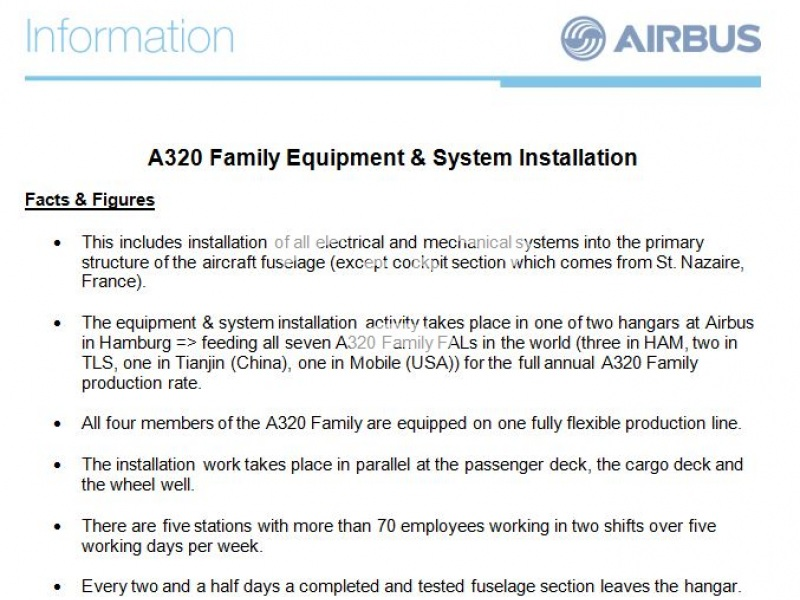 A320 Family  Equipment & System Installation