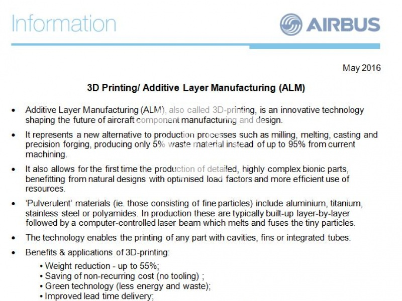 3D Printing / Additive Layer Manufacturing (ALM)