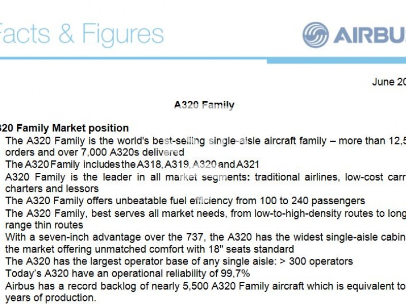 A320 Family: Facts & figures