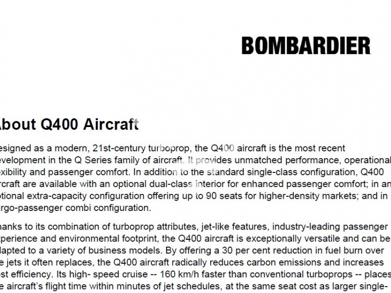 About Q400 Aircraft