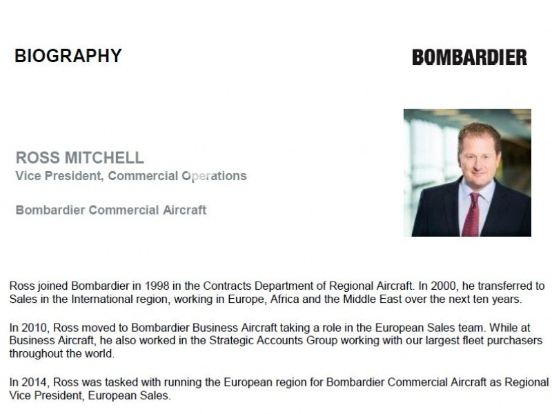Ross Mitchell, Bombardier Commercial Aircraft