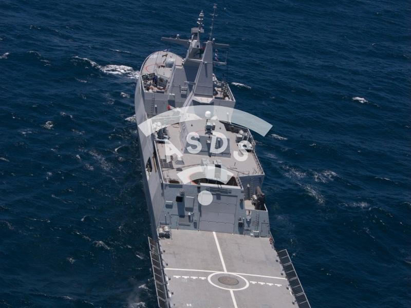 South african frigate SAS Islandlwana