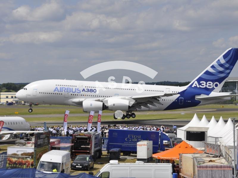 Airbus A380 at Farnborough 2014