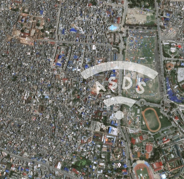 Pleiades satellites: images of Nepal after the earthquake