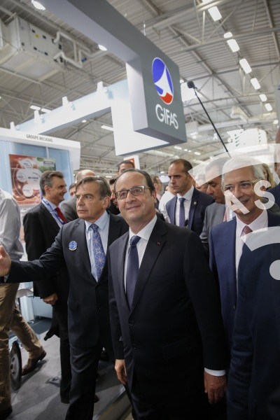 F. Hollande and JY. Le Drian