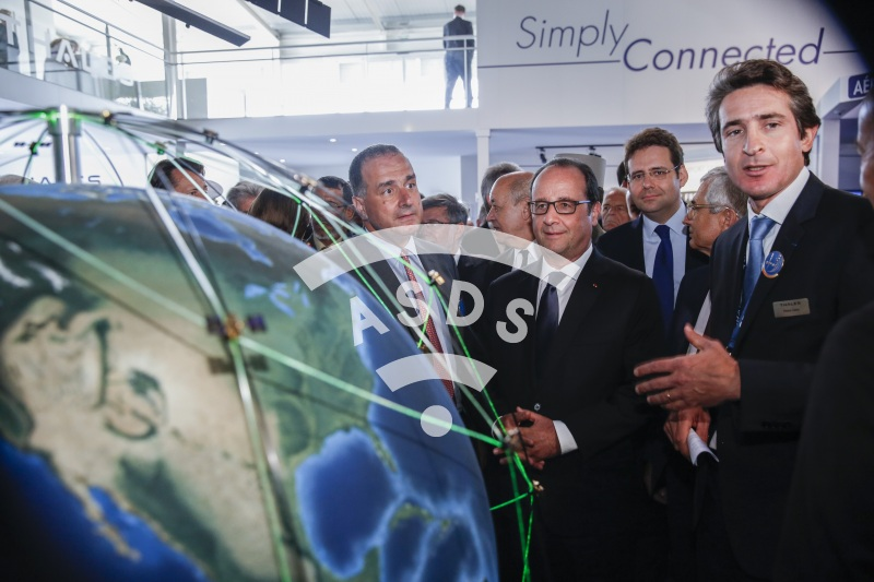 M. Lahoud, F. Hollande and P. Caine