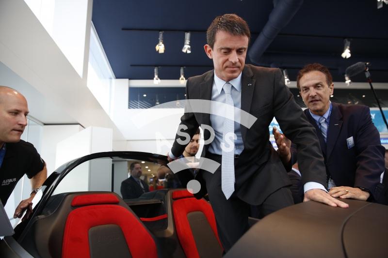 Manuel Valls and J. Botti Airbus Group
