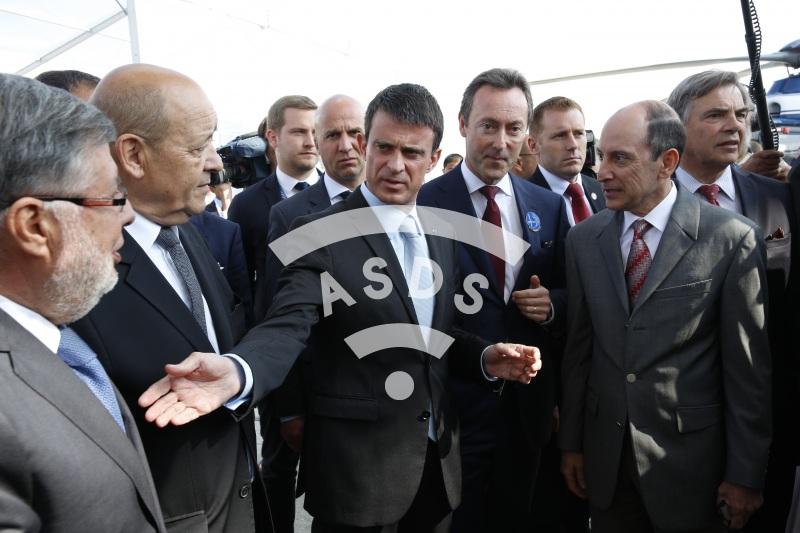 A. Vidalies, JY. Le Drian, M. Valls, F. Brégier, A. Al Baker