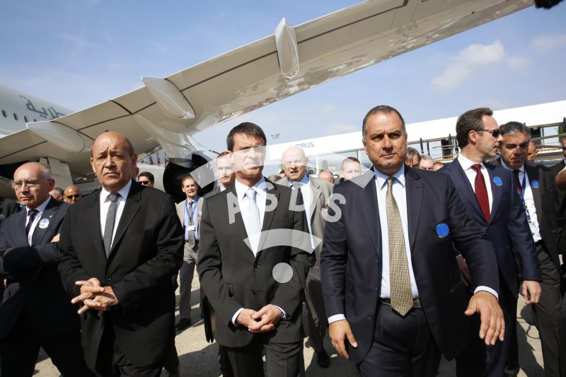 JY. Le drian, M. Valls and M. Lahoud