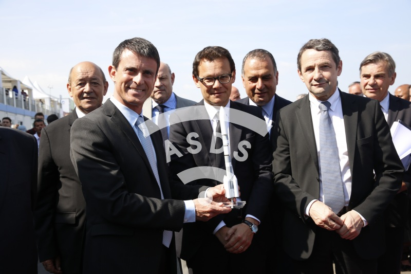 M. Valls with Stephane Israel