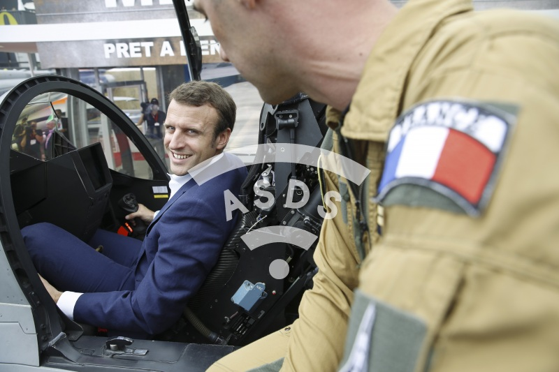 E. Macron at Paris Airshow 2015