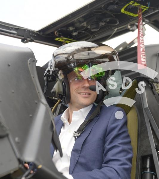 E. Macron at Paris Airshow 2015