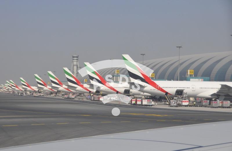 Emirates terminal at Dubai International Airport