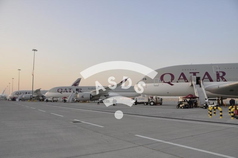 Qatar Airways at Dubai Airshow