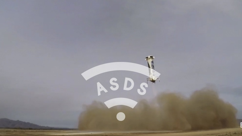 Blue Origin reusable-rocket landing