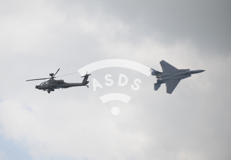 F-15 SG and AH-64 D of the RSAF