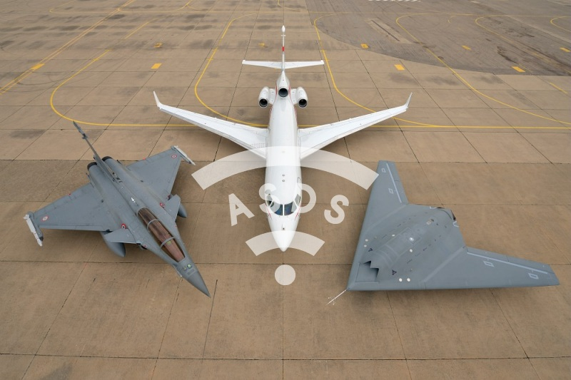 nEUROn, Rafale and Falcon