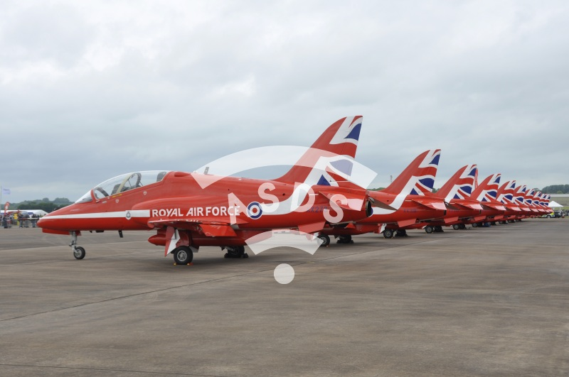 The Red Arrows at the Royal International Air Tattoo 2016