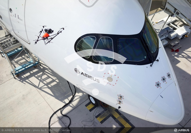 A350 XWB inspection by drone