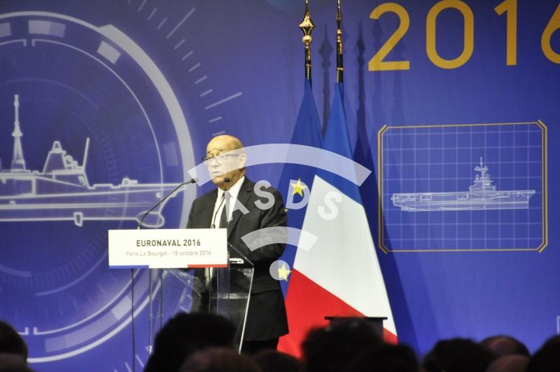 J.-Y. Le Drian at Euronaval 2016