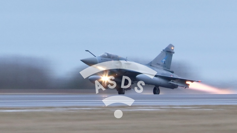 Mirage 2000-5F take off from Lithuania