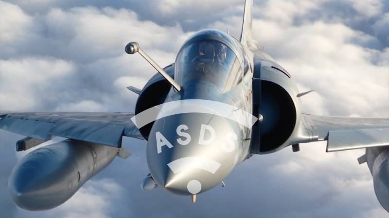 French Mirage 2000-5F over Lithuania