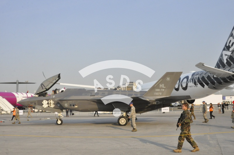 F-35A stealth fighter at Paris Airshow