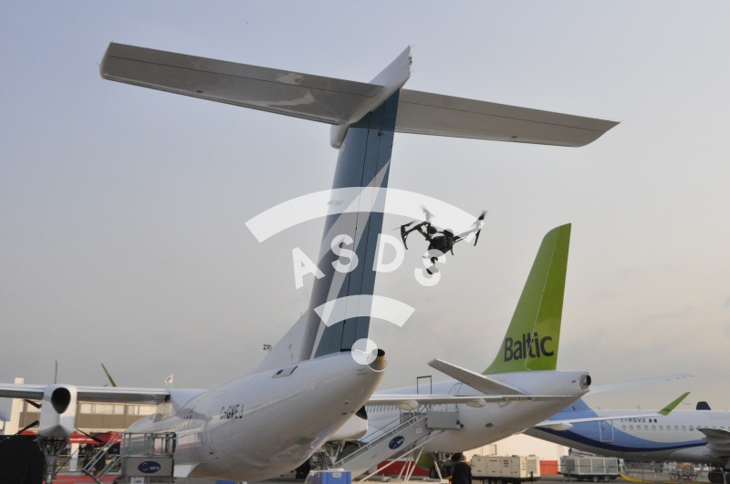 DJI Inspire 2 drone at Paris Air Show