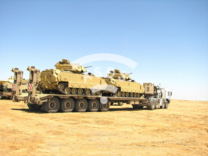PTL 70-90 armored tank flat-bed trailer