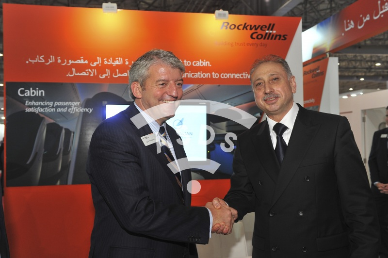 Colin Mahoney, Rockwell Collins and Eldar Hajiyev, Azerbaijan Airlines