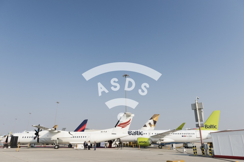 Bombardier static display at Dubai Airshow