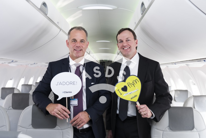 Fred Cromer, Bombardier, and Martin Gauss, airBaltic