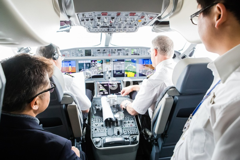 Bombardier Korean Air CS300 Cockpit