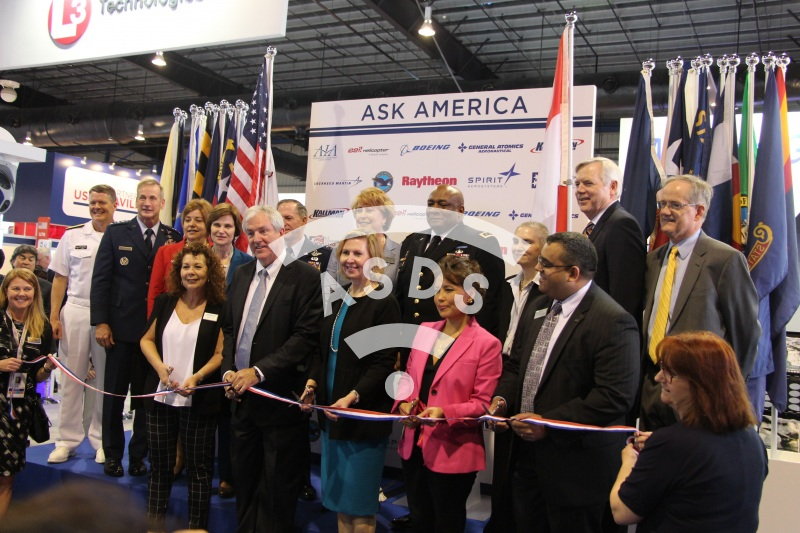 US Pavilion Ribbon cutting Ceremony at Singapore Airshow 2018