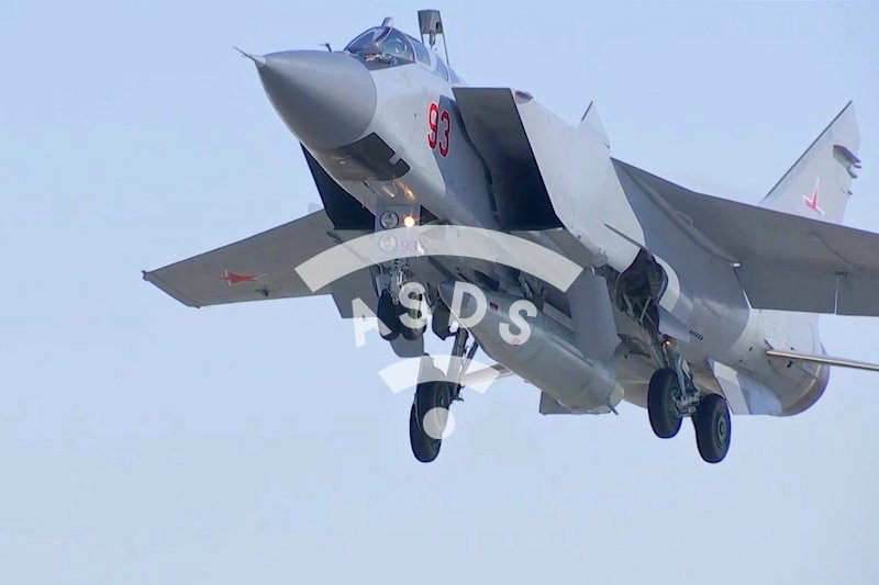 MiG-31BM with hypersonic missile