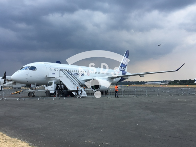 Airbus A220 at Farnborough 2018