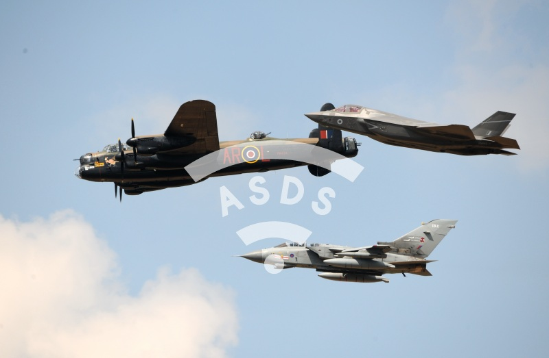 AVRO Lancaster with Tornado and F-35 at Royal Air Tattoo 2018