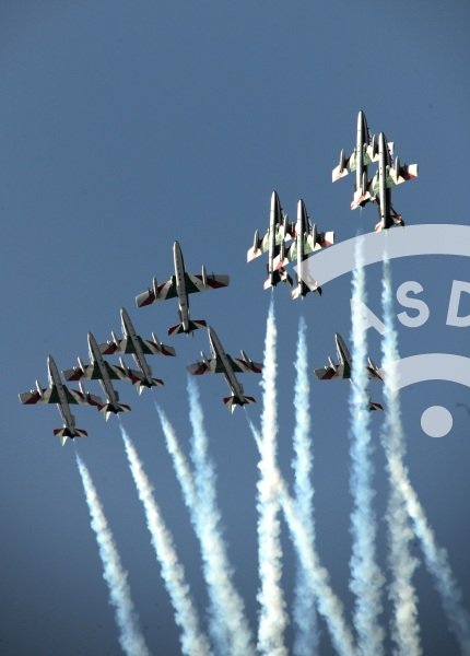 Italian aerobatic team Frecce Tricolori