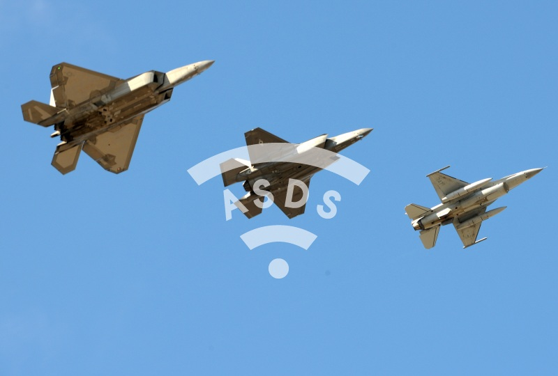 F-22, F-35 and F-16 at FIDAE 2018