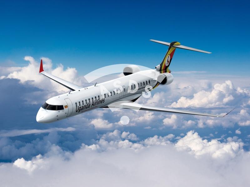 CRJ900 Uganda Airlines livery