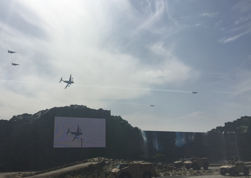Air-Land combined live demonstration at IDEX 2019