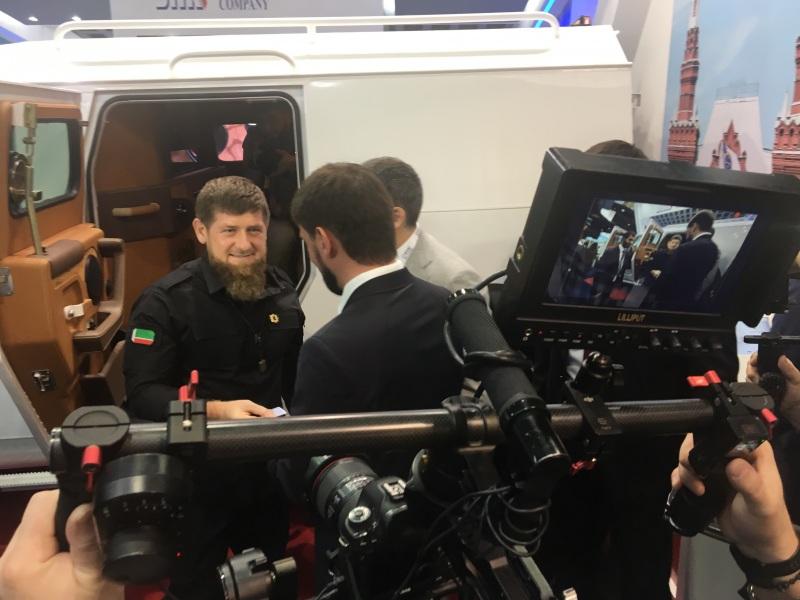 Chechen President Kadyrov at IDEX