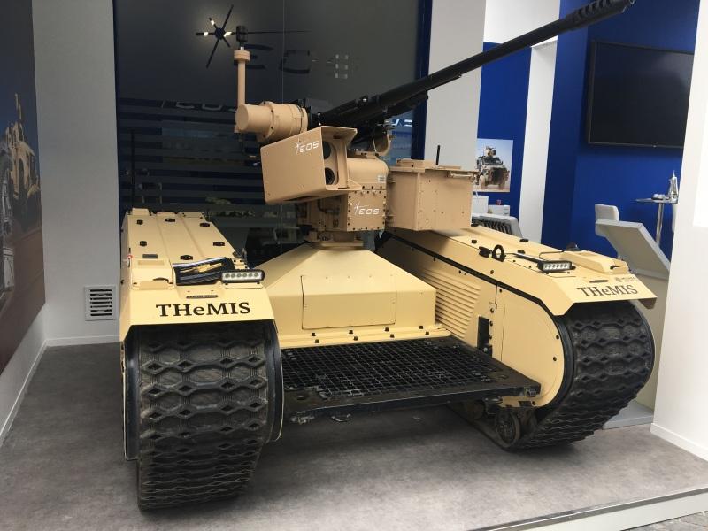 EOS 30mm RW on MILREM THeMIS at IDEX