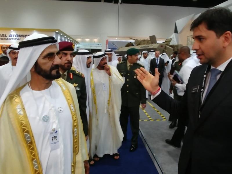 Sheikh Mohammed Bin Rashid Al Maktoum visiting IDEX
