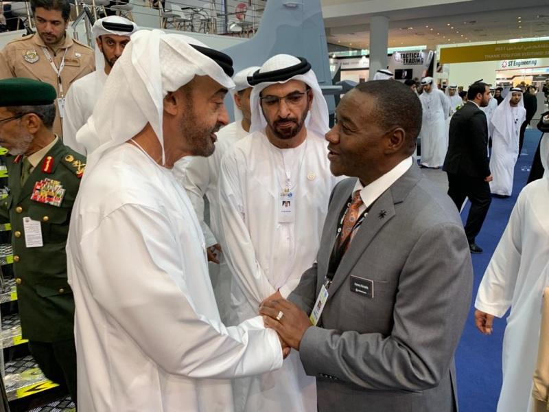 Sheikh Mohammed Bin Zayed Al Nayhan visiting IDEX