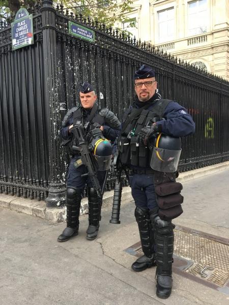 CRS Policemen in Paris